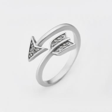 """Серебряное безразмерное кольцо """"Стрела"""" (3824)"""