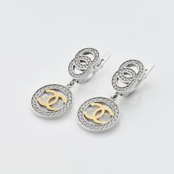 """Сережки """"Шанель"""" (4769) зі срібла"""