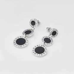 Серебряные серьги-гвоздики в стиле BVLGARI (4775)