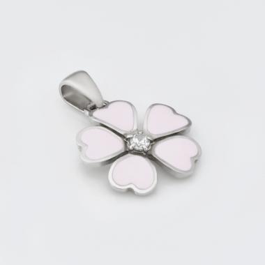 """Срібний кулон """"Квітка"""" (7150)"""