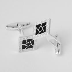 Серебряные запонки (7502)