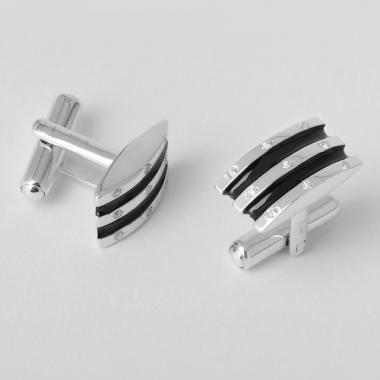 Серебряные запонки (7506)