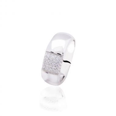 """Серебряное кольцо """"Обручалка"""" (3801)"""