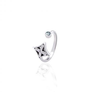 Серебряное кольцо на фалангу (3819)