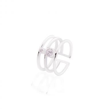 Срібна безрозмірна  жіноча каблучка (3820)