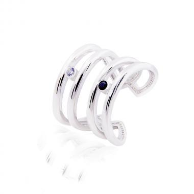 Серебряное двойное кольцо (3840)