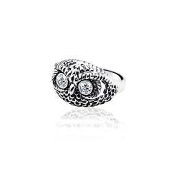 Жіноча срібна каблучка Сова (3847)