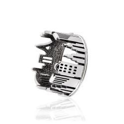 Безрозмірна срібна каблучка (3937)