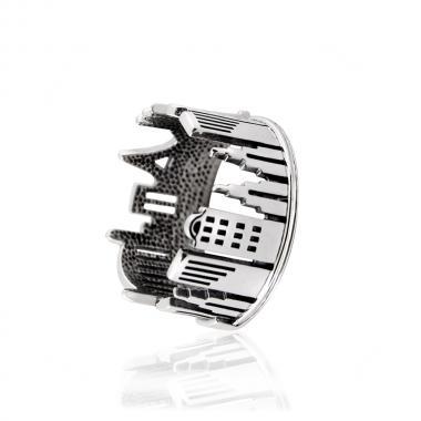 Безразмерное серебряное кольцо (3937)
