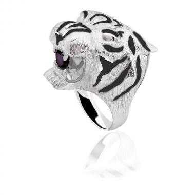 """Срібна каблучка """"Тигр""""  (4118)"""