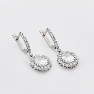 """Срібні сережки """"Вишуканість"""" (4716)"""