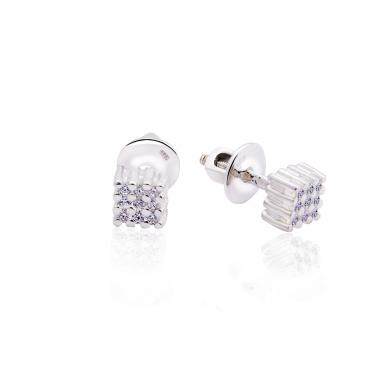 Срібні сережки-гвоздики (4801)