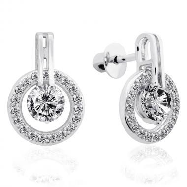 Срібні сережки-гвоздики (4821)