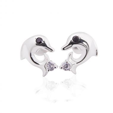 Срібні сережки-гвоздики (4830)