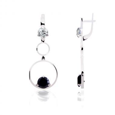 """Срібні сережки """"Кільця"""" (4836)"""