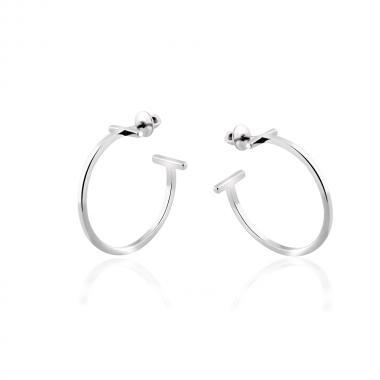 Срібні сережки-гвоздики  (4850)