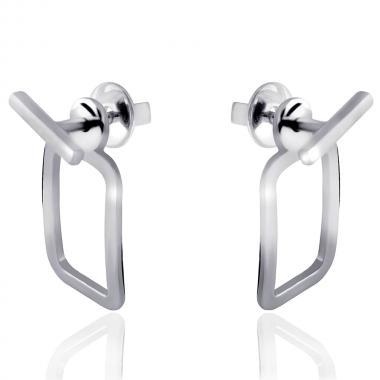 Серебряные серьги-гвоздики (4852)