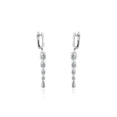 """Срібні сережки """"Омана"""" (4891)"""