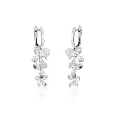 """Срібні сережки """"Квіти"""" (4893)"""