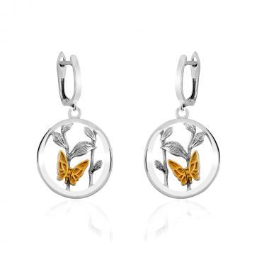 """Срібні сережки """"Метелики"""" (4905)"""