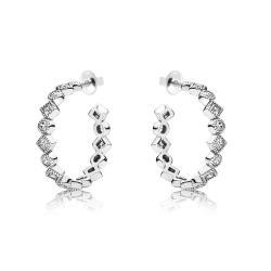 Серебряные серьги-гвоздики (4913)