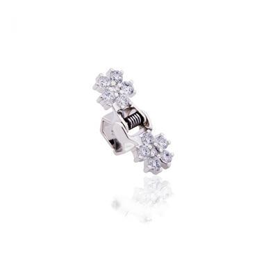 """Срібна заколка краб """"Квітка"""" (9310-1)"""