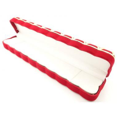 Футляр бархатный с сеткой для ложки  (красный) (ф32)