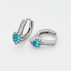 """Срібні сережки """"Серце"""" (4771)"""