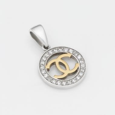Срібний кулон Шанель (7147)