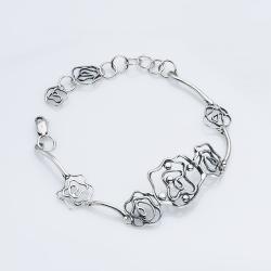 Срібний браслет Троянда (2037)