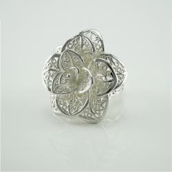 """Серебряное кольцо """"Роза"""" (3659)"""