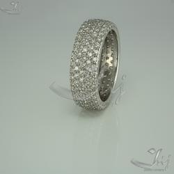 """Серебряное кольцо """"Многокамёнка"""" (3660)"""