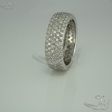 """Женское серебряное кольцо """"Многокамёнка"""" (3660)"""