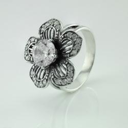 """Срібна каблучка """"Квітка"""" (3718)"""