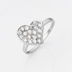 """Серебряное кольцо """"Сердце"""" (3722)"""