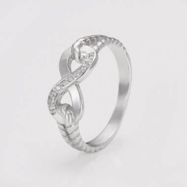 """Серебряное кольцо """"Бесконечность"""" (3753)"""
