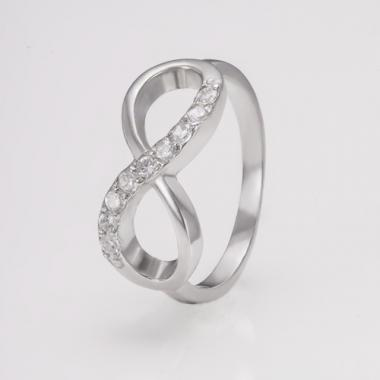 """Серебряное кольцо """"Бесконечность"""" (3754)"""