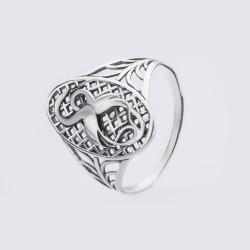 "Серебряное кольцо ""Аисты"" (3761)"