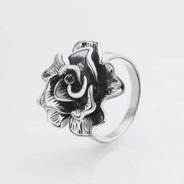 """Серебряное кольцо """"Роза""""( 3762)"""