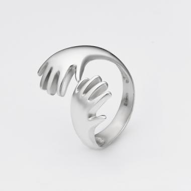 """Серебряное кольцо """"Руки"""" (3784)"""