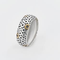 Срібна каблучку з позолотою в стилі PANDORA (3802)