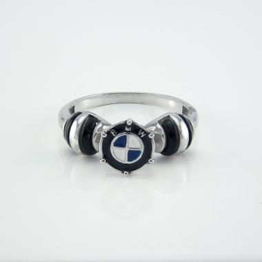 """Серебряное кольцо """"БМВ"""" (4108)"""