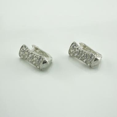 Серебряные серьги детские (4402)