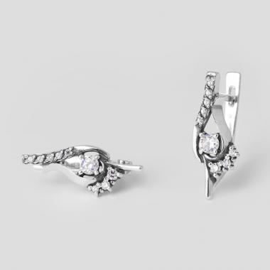 Серебряные серьги (4404)