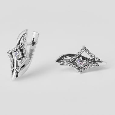 Серебряные серьги (4405)