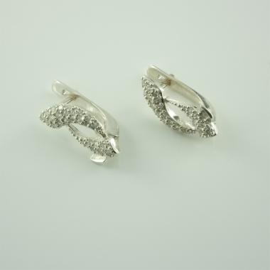 Серебряные серьги (4409)