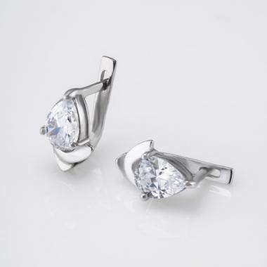Серебряные серьги  (4467)