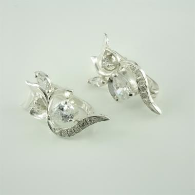 Серебряные серьги  (4511)