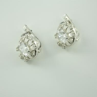 Серебряные серьги  (4513)