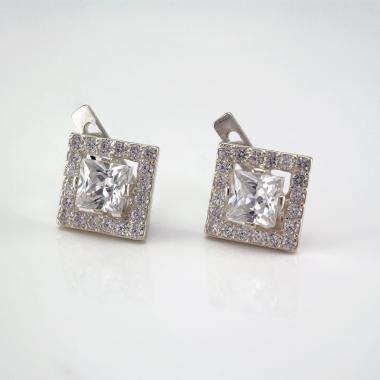 Серебряные серьги  (4524)